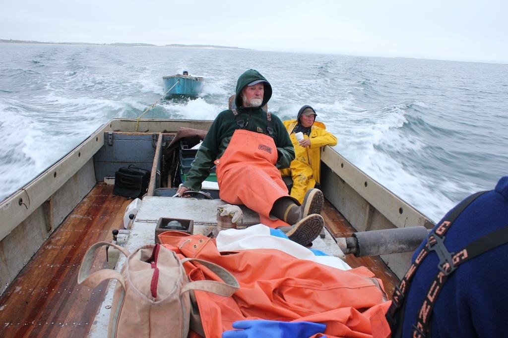 Eldridge and crew heading seaward
