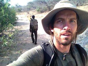 Brian Wood selfie on a Hadza honey run.