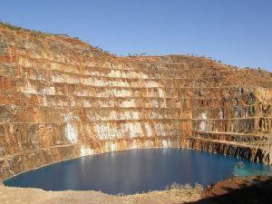 Abandoned uranium pit, Queensland, Australia